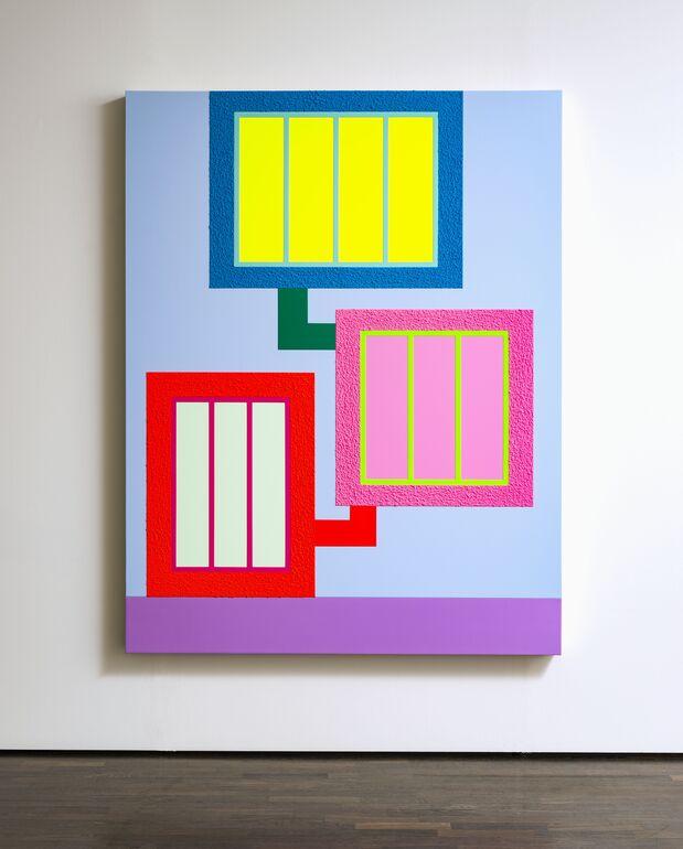 Peter Halley, The Trap, 2019, © Galerie Thomas Modern, München, Foto: Walter Bayer