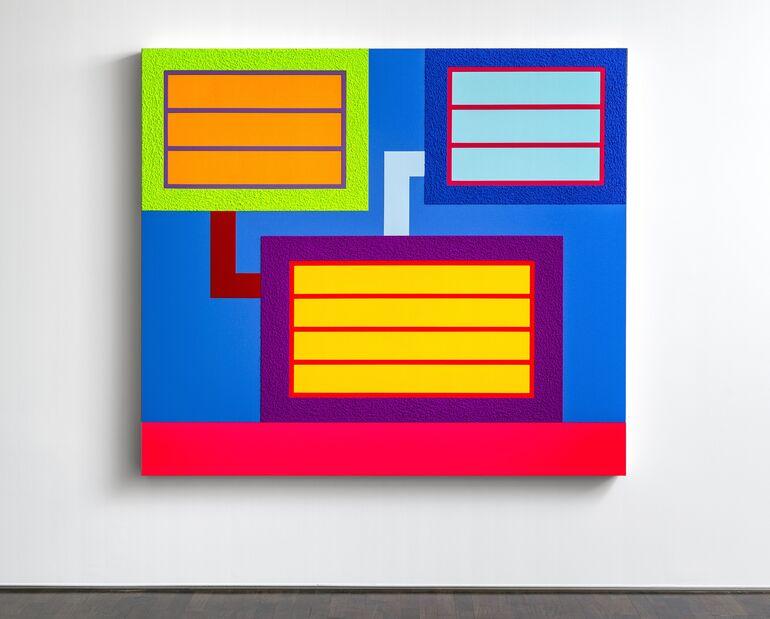 Peter Halley, Code 8, 2019 © Galerie Thomas Modern, München, Fotograf Walter Bayer