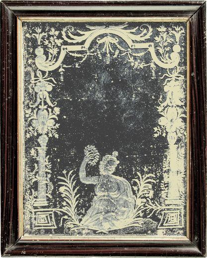 Spiegel mit Schliffdekor, 2. Viertel 18. Jh., Museum Stadt Miltenberg
