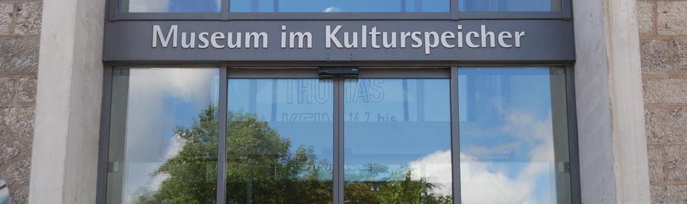 Schriftzug Kulturspeicher Eingang