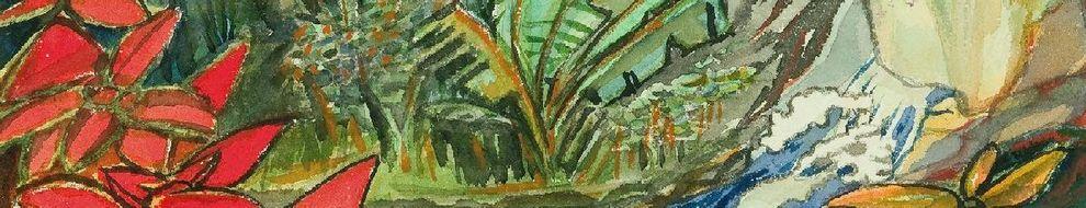 Max Dauthendey, Wasserfall von Amboina, 4. Juli 1914