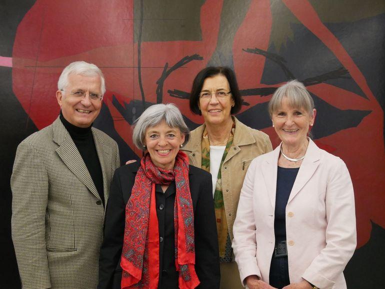 Vorstand: Bernd Schmidtchen (Vorsitzender), Regine Samtleben (stellv. Vorsitzende), Gudrun Hoffmeister (Schatzmeisterin), Angelika Haerth-Bauer (Schriftführerin) Foto Sophia Kippes