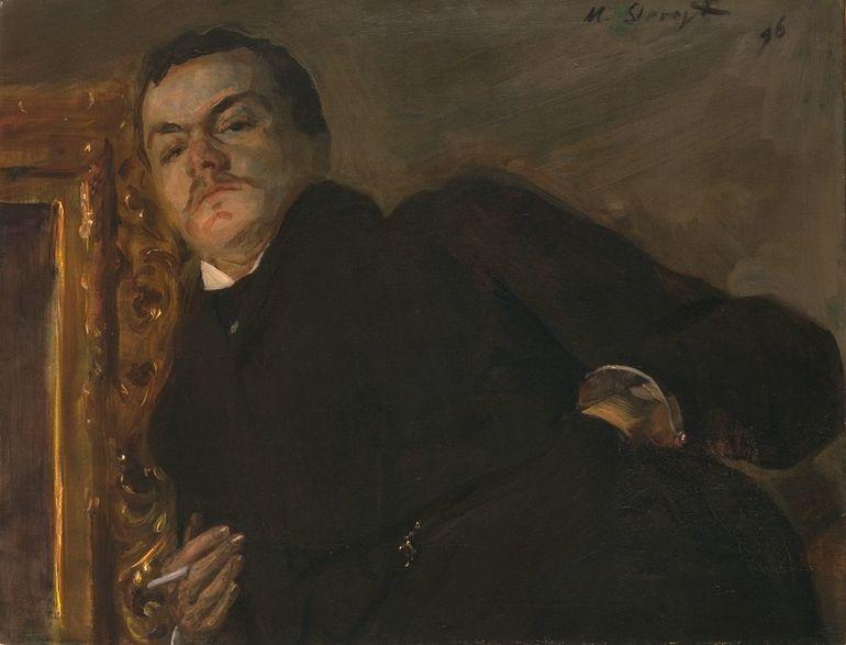 Öl auf Leinwand; Max Slevogt, Bildnis Robert Breyer, 1896