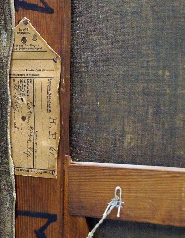 Rayski, F. v. Die großen Kavaliere, Detail der Bildrückseite