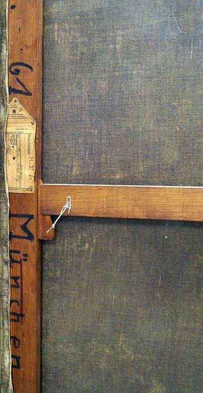 Rayski, F. v. Die großen Kavaliere, Detail der Bildrückseite II