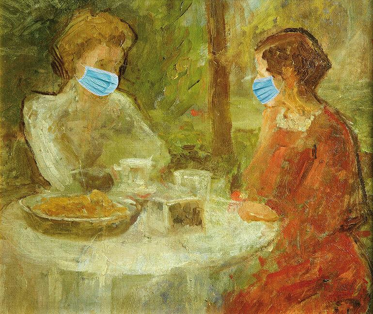 Rostosky Teestunde mit Maske
