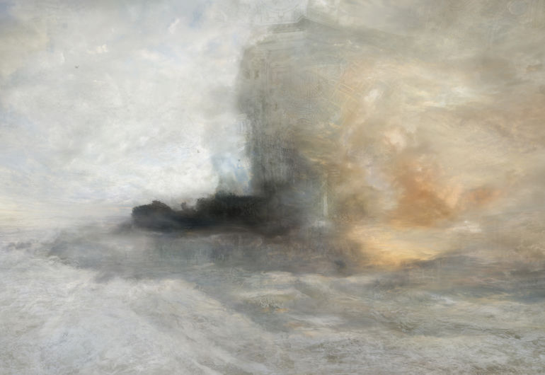 J.M.W. Turner, A Wreck, 1835?402008, LED Light box, (Ausschnitt) Foto Hiroyuki Masuyama © Hiroyuki Masuyama