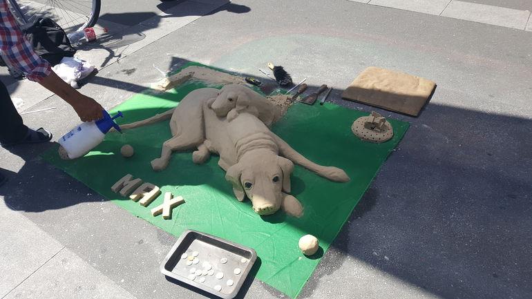 17.00 Uhr: Sandhunde, Foto Schüler*in des Projektes, ©MiK