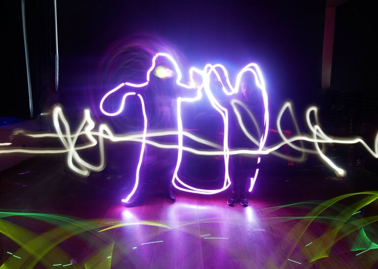 Lightpainting Foto Museum im Kulturspeicher ©MiK