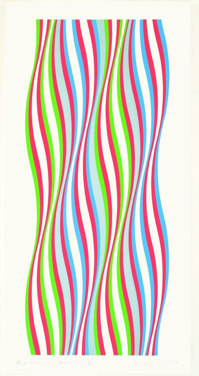 Riley, Bridget, Red Dominance,1974 ©Bridget Riley, 2018
