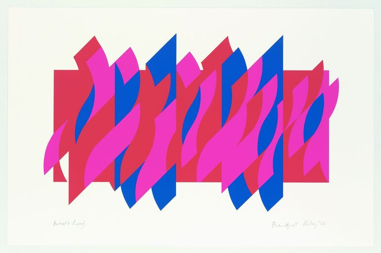 Riley, Bridget, Red Red Blue, 2010 ©Bridget Riley, 2018