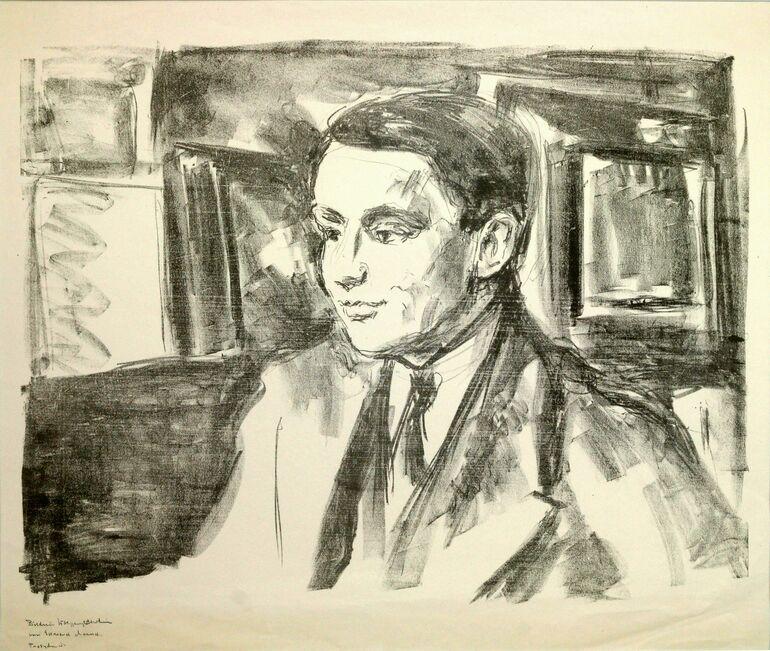 Munch, E. Bildnis des Kunsthändlers Wolfgang Gurlitt, 1912