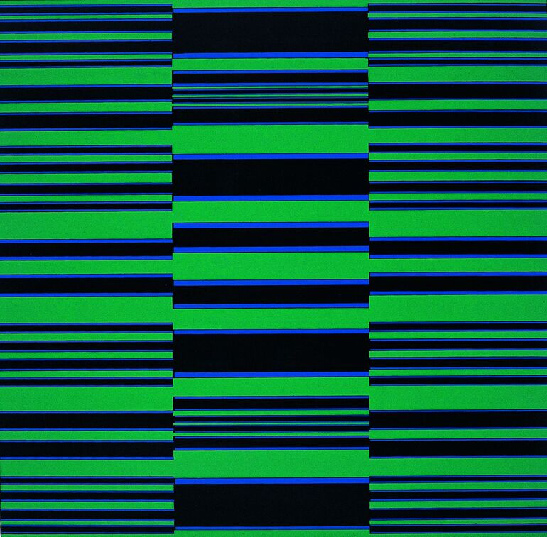 Fruhtrunk, Günter, Vibration Grün, Blau, Schwarz, 1965 1968, Foto ElmarHahnStudios ©VG Bild-Kunst, Bonn 2020