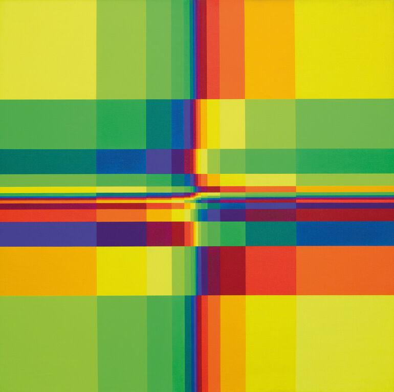 Lohse, Richard Paul, Fünfzehn systematische Farbreihen mit vertikaler und horizontaler Verdichtung Foto A.Bestle ©VG Bild-Kunst, Bonn 2020